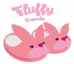 Fluffy Friends embroidery design