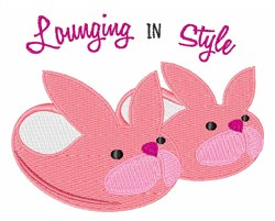 Lounging in Style embroidery design