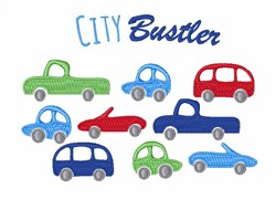 City Buster embroidery design