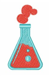 Chemistry Bottle embroidery design
