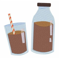 Chocolate Milk embroidery design