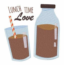 Lunch Time Love embroidery design