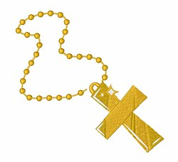 Gold Cross Necklace embroidery design