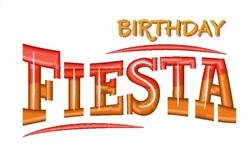 Birthday Fiesta embroidery design