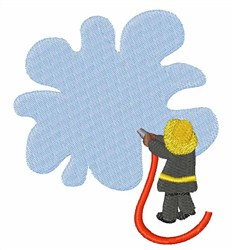 Firefighter Splash embroidery design