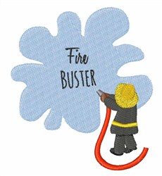 Fire Buster embroidery design