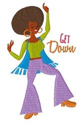 Get Down embroidery design