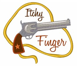 Itchy Finger embroidery design