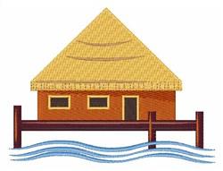 Island Hut embroidery design