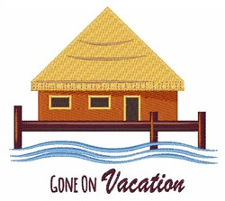 Gone on Vacation embroidery design