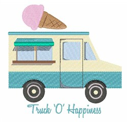 Truck O Happiness embroidery design