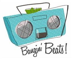 Bangin Beats embroidery design