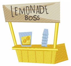 Lemonade Boss embroidery design