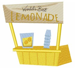 Worlds Best Lemonade embroidery design