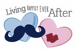 Living Happily embroidery design