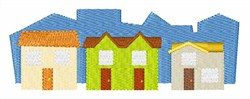 Houses In A Row embroidery design