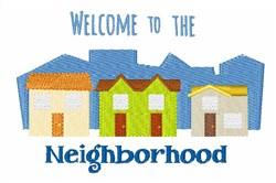 Neighborhood Welcome embroidery design