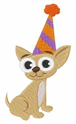 Birthday Chihuahua embroidery design