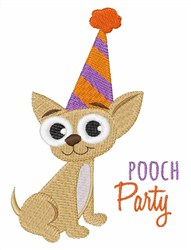 Pooch Party embroidery design