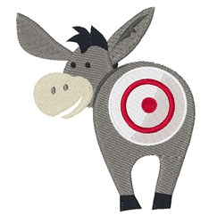 Donkey Target embroidery design