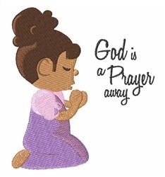 A Prayer Away embroidery design