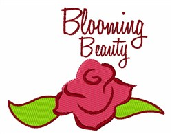 Blooming Beauty embroidery design