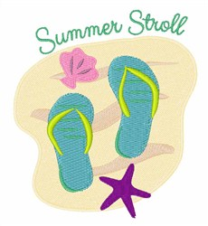 Summer Stroll embroidery design