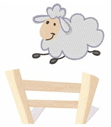 Leaping Ewe embroidery design