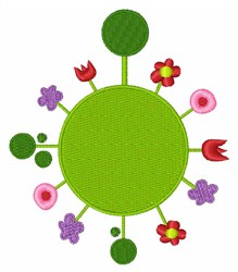 Floral Sphere embroidery design