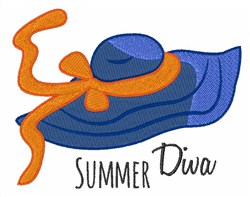 Summer Diva embroidery design