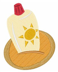 Sun Tan Lotion embroidery design
