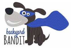 Backyard Bandit embroidery design