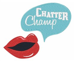 Chatter Champ embroidery design