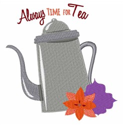 Always Tine For Tea embroidery design