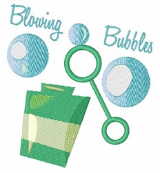 Blowing Bubbles embroidery design