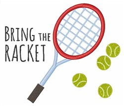 Bring the Racket embroidery design