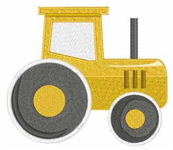 Yellow Tractor embroidery design