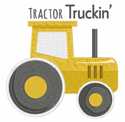 Tractor Truckin embroidery design