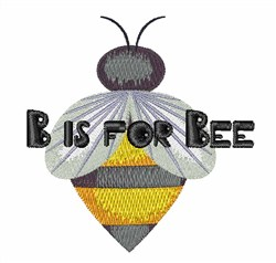 B for Bee embroidery design