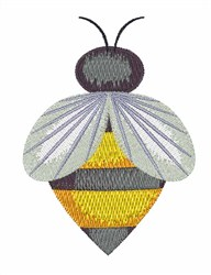 Single Bee embroidery design