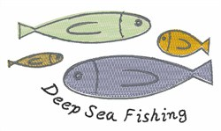Deep Sea Fishing embroidery design