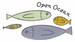 Open Ocean embroidery design