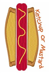 Ketchup or Mustard embroidery design