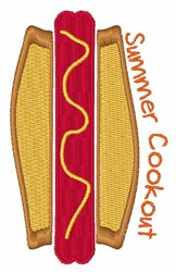 Summer Cookout embroidery design