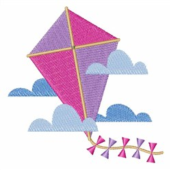 Kite in Clouds embroidery design