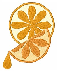 Citrus Slice embroidery design