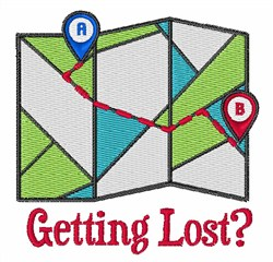 Getting Lost? embroidery design