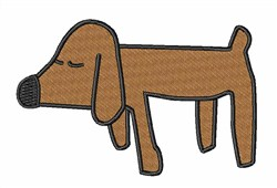 Brown Dog embroidery design