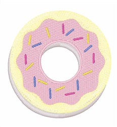 Donut with Sprinkles embroidery design