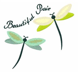 Beautiful Pair embroidery design